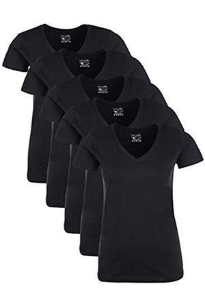 Berydale Für Sport & Freizeit, V-ausschnitt T-Shirt, Schwarz), Medium