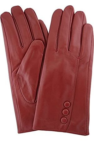 """SNUGRUGS Womens Butter Soft Premium Leather Glove with Classic Triple Button Stitch Detail & Warm Fleece Lining - - Large (7.5"""")"""