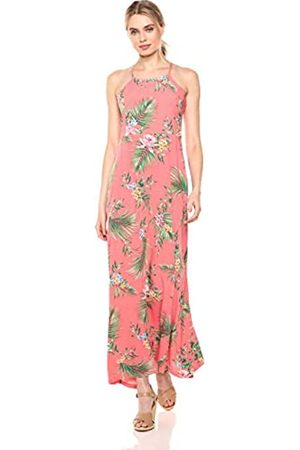28 Palms Tropical Hawaiian Print Halter Maxi Dress Dresses