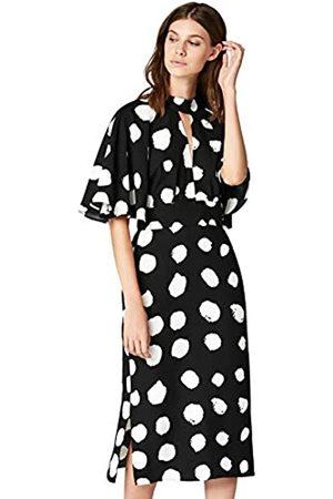 TRUTH & FABLE Amazon Brand - Women's Dress Midi Keyhole, 14