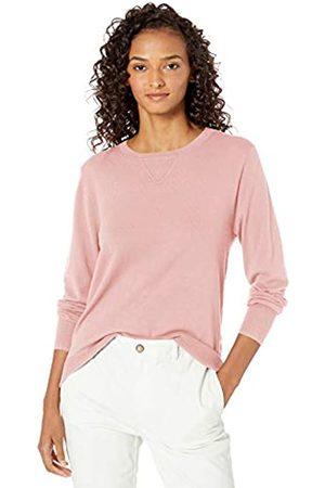 Daily Ritual Fine Gauge Stretch Crewneck Pullover Sweater Pale Mauve