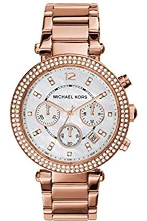 Michael Kors MK5491 39mm Plated Stainless Steel Case Plated Stainless Steel Mineral Women's Watch