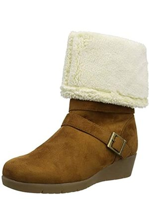 Joe Browns Women's Cosy and Cute Wedge Boots High, (Tan A)