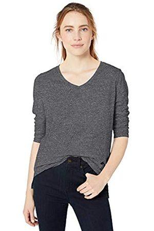 Goodthreads Vintage Cotton Long-sleeve V-neck T-shirt Charcoal NEP Heather