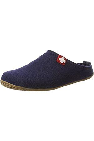 Living Kitzbühel Unisex Adults' Pant. Schweizer Kreuz& Fußbett Slippers, Blau (Nachtblau)