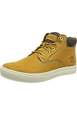Timberland Men's Dauset Leather and Fabric Chukka, (Wheat Nubuck)