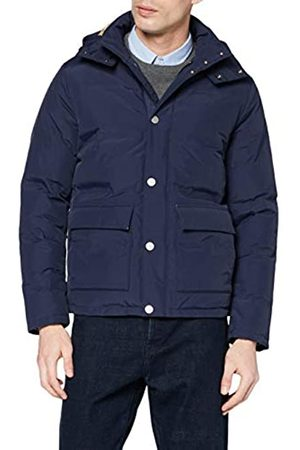 Brooks Brothers Men's Out Fused Channel Quilted Down Jacket Navy Cape