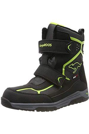 KangaROOS Unisex Kids' K-Trooper V RTX Snow Boots, (Jet /Lime 5008)