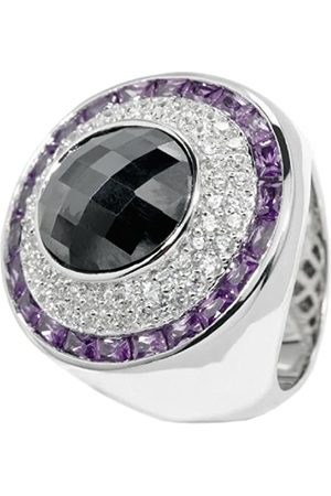 Carlo Monti Women's Ring 925 Sterling Rhodium-Plated Multi Stones JCM 106–122 17mm 0