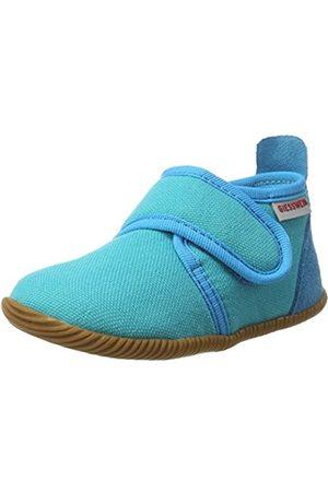 Giesswein Kids Slipper Strass Slim Fit Capri 20 - Houseshoes with Velcro Fastener for Boys & Girls, Unisex Children's Slippers Made of Cotton, Non-Slip