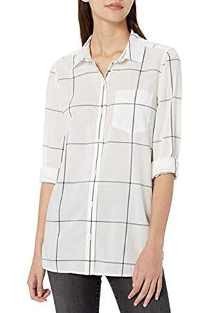 Goodthreads Lightweight Poplin Long-sleeve Button-front Shirt /Navy Windowpane