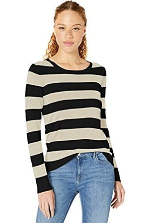 Amazon Essentials Lightweight Crewneck Sweater Oatmeal Heather/ Stripe