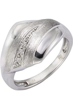 CELESTA Diamonds 312270014-0 Women's Ring - 925/1000 Sterling with 0.05-Carat Diamonds - 5.70 g white
