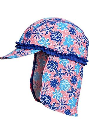 Playshoes Girl's Bathrobe Floral Seas with UV PRedection Hat