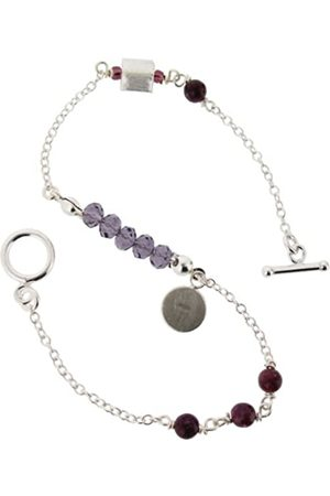 Earth Sterling 20cm 'Micro' Bracelet with Lepidolite Beads