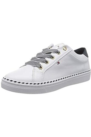 Tommy Hilfiger Women's Nautical Lace Up Sneaker Low-Top, ( Ybs)