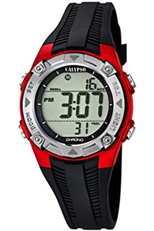Calypso Unisex Digital Watch with LCD Dial Digital Display and Plastic Strap K5685/6