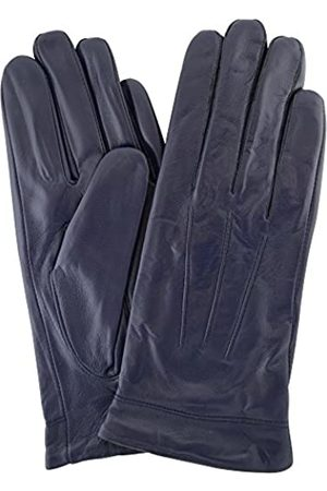 "SNUGRUGS Womens Butter Soft Premium Leather Glove with Classic 3pt Stitch Design & Warm Fleece Lining - Navy - Small (6.5"")"