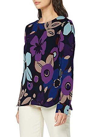 Seidensticker Women's Shirtbluse Langarm Modern fit Blumendruck-100% Cupro Blouse