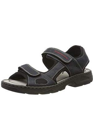 Rieker Men's 26155-15 Closed Toe Sandals, (Pazifik/Schwarz 15)