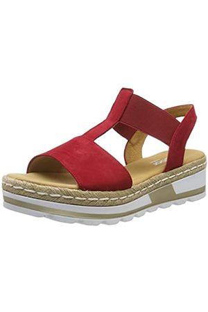 Gabor Women's Comfort Sport Ankle-Strap Wide Fit, (Rubin (Jute) 48)