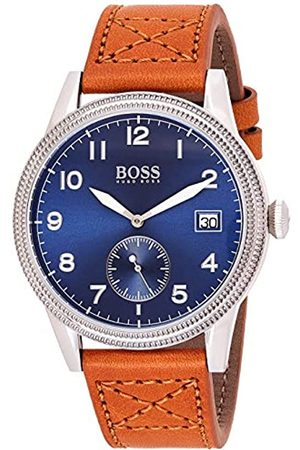 HUGO BOSS Mens Analogue Classic Quartz Watch with Leather Strap 1513668