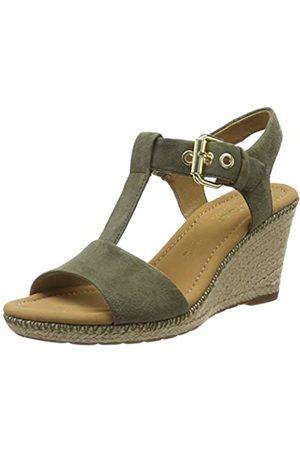 Gabor Shoes Women's Comfort Sport Ankle Strap Sandals, (Oliv (Jute/Naht) 34)
