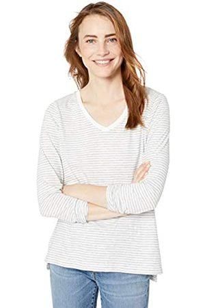 Goodthreads Vintage Cotton Long-sleeve V-neck T-shirt Mini Stripe