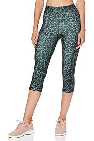 AURIQUE Amazon Brand - Women's Printed Cropped Sports Leggings, 16