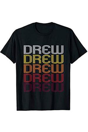 Ann Arbor T-shirt Co Drew Retro Wordmark Pattern - Vintage Style T-shirt