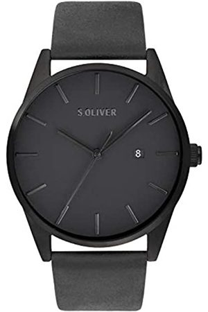 s.Oliver Mens Analogue Quartz Watch with Leather Strap SO-3851-LQ