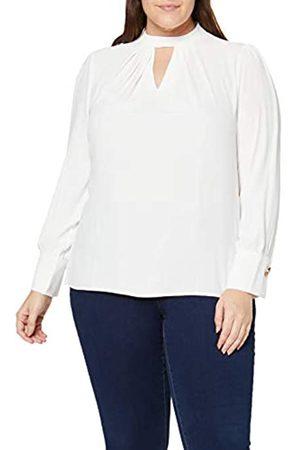 Dorothy Perkins Curve Women's Pleat Neck Ls Top Plain Blouse