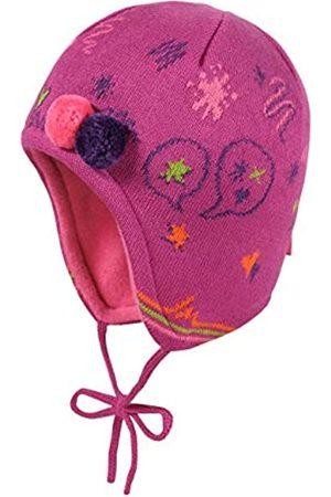 maximo Baby Girls' Mit Gekritzel Bommeldeko und Bindeband Hat