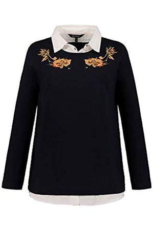 Ulla Popken Women's Sweatshirt Hemdblusen Einsatz Stickerei