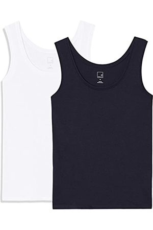 MERAKI Women's Round Neck Vest, Pack of 2