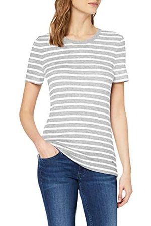 Tommy Hilfiger Women's TH Essential Skinny Rib TEE SS Sports Knitwear, (Bretton STP/ / 0Cy)