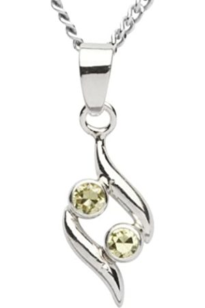 InCollections Ladies 'Pendant 925/000 Sterling Silver with Lime Zirconia Curb Chain 42 cm