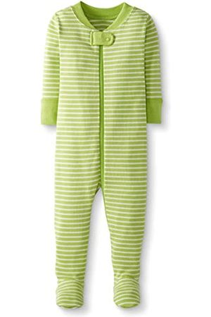Moon and Back by Hanna Andersson Moon and Back One Piece Footed Pajama Sleepers, Lime