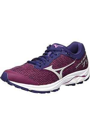 Mizuno Women's Wave Rider Tt Neutralschuh Damen-Berry, Dunkelblau Running Neutral Shoe, Potion/Vapor /Astral Aura