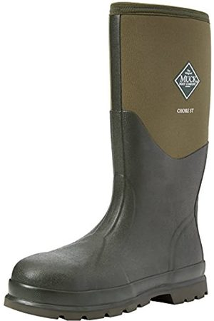 Muck Boots Unisex Adults' Chore Steel Toe Safety Wellingtons, (Moss Stmg)