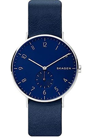 Skagen Mens Analogue Quartz Watch with Leather Strap SKW6478