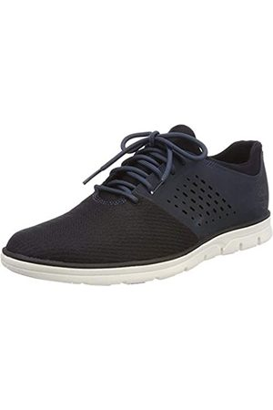 Timberland Men's Bradstreet Fabric and Leather Sensorflex Oxfords, Midnight Navy Nubuck w/Knit