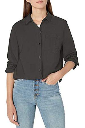 Goodthreads Lightweight Twill Long-sleeve Boyfriend Shirt Button