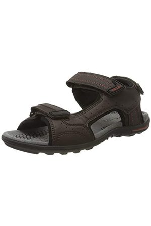 Geox Men's U TEVERE A Open Toe Sandals, (Coffee C6009)