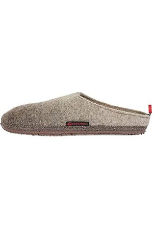 Giesswein Slipper Naurath mole 40 - Unisex Felt Slippers, Comfortable Wool Slippers with Flexible Sole, Changeable Footbed, Warm Houseshoes, Mules for Men & Women, Non-Slip