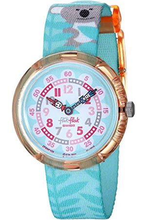 Flik Flak Girls Analogue Quartz Watch with Textile Strap FBNP109