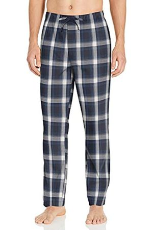 Goodthreads Stretch Poplin Pajama Pant Casual, Green Gold Check
