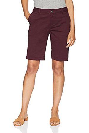 "Amazon 10"" Inseam Solid Bermuda Short Burgundy"