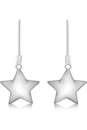 Tuscany Silver Women's Sterling Polished Star 14.5 x 29 mm Drop Earrings