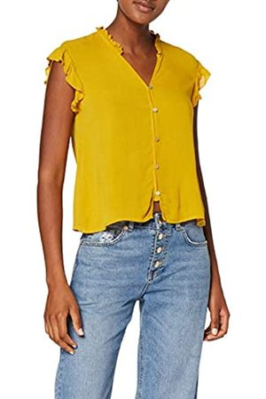 Only Women's onlAMY Cropped SL TOP WVN Blouse